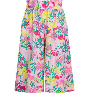 Spodnie w kwiaty dla dziewczynki, kuloty, z gumką w pasie, 2-8 lat D03K549_1