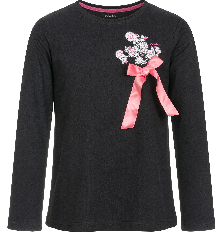 Endo - Bluzka z długim rękawem dla dziewczynki 9-13 lat D92G508_2