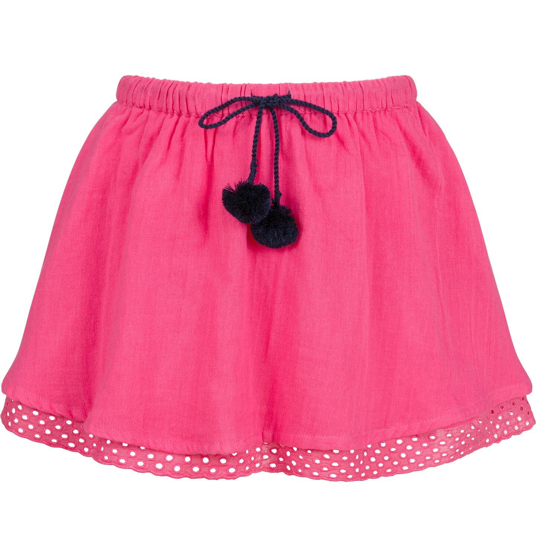 Endo - Krótka spódnica z pomponami na troczkach, różowa, 9-13 lat D03J514_1