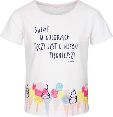 T-shirt z krótkim rękawem dla dziewczynki 9-13 lat D91G505_1