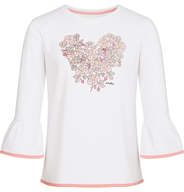 Endo - Bluzka z rękawem 3/4 dla dziewczynki, biała, 9-13 lat D92G513_1