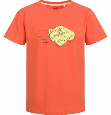 Endo - T-shirt z krótkim rękawem dla chłopca, z lornetką, pomarańczowy, 9-13 lat C03G544_1