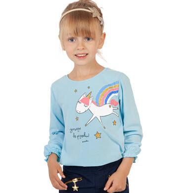 Endo - Bluzka z długim rękawem dla dziewczynki, z tęczowym jednorożcem, błękitna, 2-8 lat D03G208_1 14