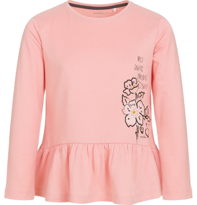 Endo - Bluzka z długim rękawem dla dziewczynki 3-8 lat D92G014_1