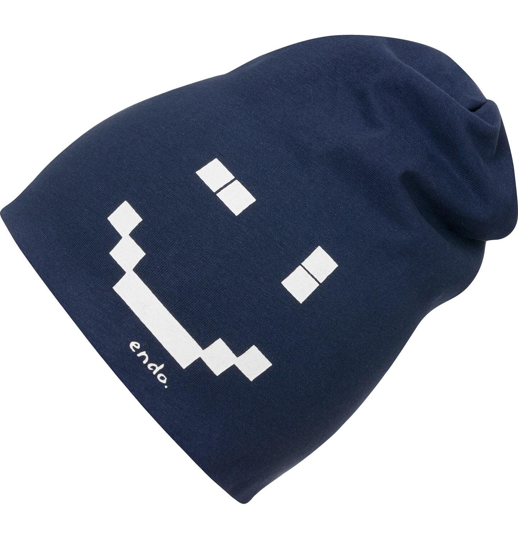 Endo - Czapka dla dziecka, z pixelami, granatowa C04R009_1