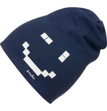 Endo - Czapka dla dziecka, z pixelami, granatowa C04R009_1,1