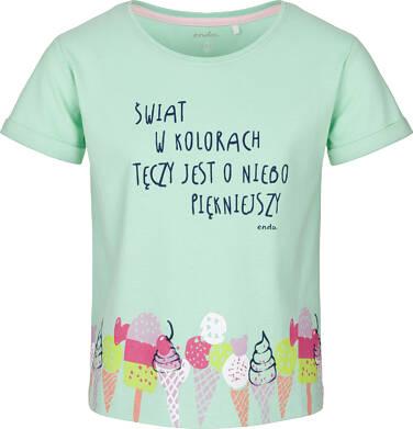 T-shirt z krótkim rękawem dla dziewczynki 9-13 lat D91G505_2