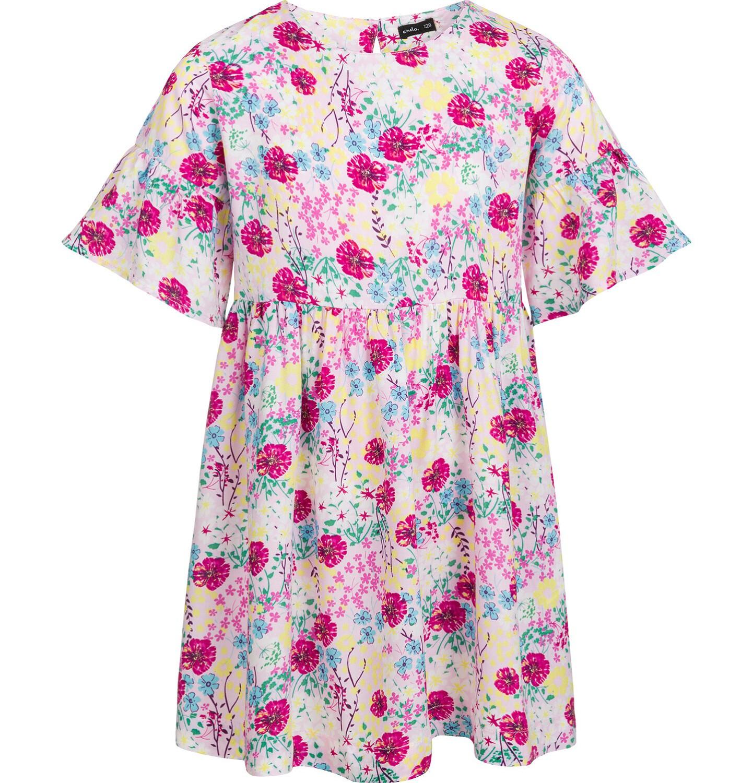 Endo - Sukienka z krótkim rękawem, deseń w kolorowe kwiaty, 2-8 lat D03H051_1