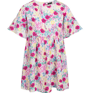 Endo - Sukienka z krótkim rękawem, deseń w kolorowe kwiaty, 2-8 lat D03H051_1 5