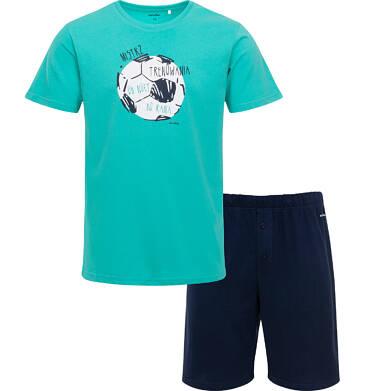 Endo - Męska piżama z krótkim rękawem, z piłką, zielona Q05V004_1 7