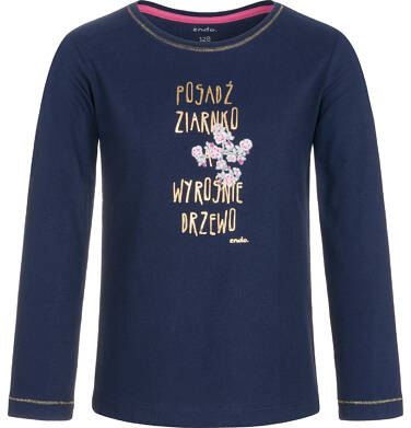 Endo - Bluzka z długim rękawem dla dziewczynki 3-8 lat D92G016_1