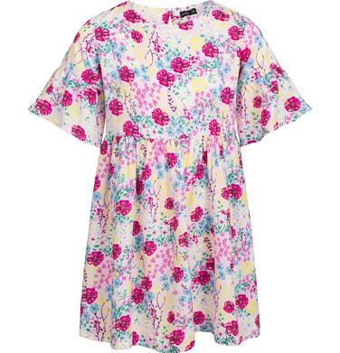 Endo - Sukienka w krótkim rękawem, deseń w kolorowe kwiaty, 9-13 lat D03H551_1 18