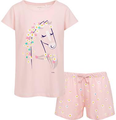 Endo - Damska piżama z krótkim rękawem, z jednorożcem, różowa Y05V007_1 6