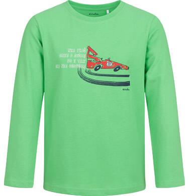Endo - T-shirt z długim rękawem dla chłopca, z samochodem, zielony, 2-8 lat C04G188_1 30