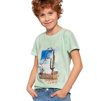 Endo - T-shirt z krótkim rękawem dla chłopca, z dinozaurem, niebieski, 2-8 lat C03G047_1