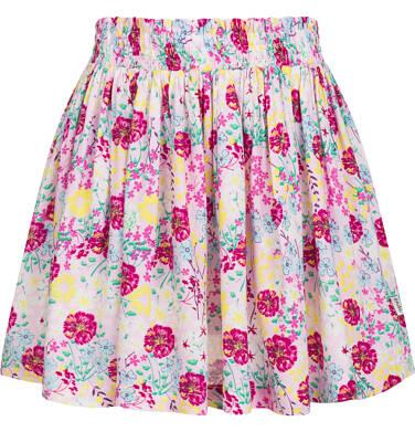 Rozkloszowana spódnica w barwne kwiaty, z gumką w pasie, 9-13 lat D03J510_1