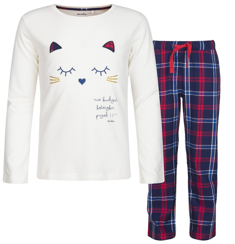 Endo - Piżama z długim rękawem dla dziewczynki 3-8 lat D82V004_1