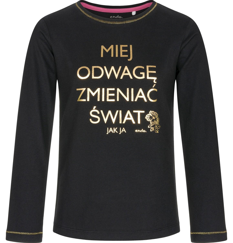 Endo - T-shirt z długim rękawem dla dziewczynki 9-13 lat D92G550_1