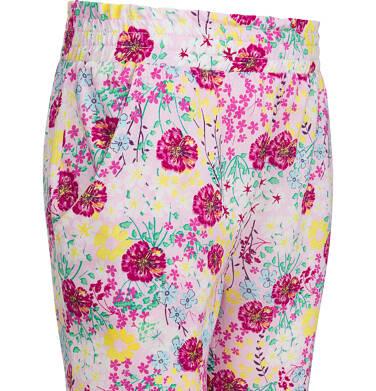 Endo - Kwieciste spodnie dla dziewczynki, luźny krój i ściągacze, 2-8 lat D03K047_1 3