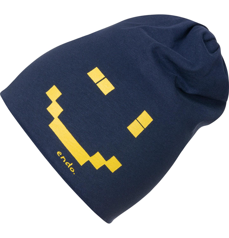 Endo - Czapka dla dziecka, z pixelami, granatowa C04R024_1