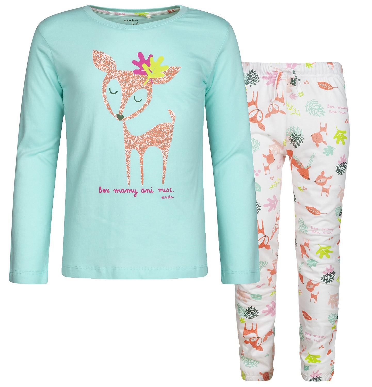 Endo - Piżama z długim rękawem dla dziewczynki 3-8 lat D82V007_1