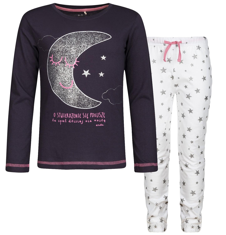 Endo - Piżama z długim rękawem dla dziewczynki 3-8 lat D82V008_1