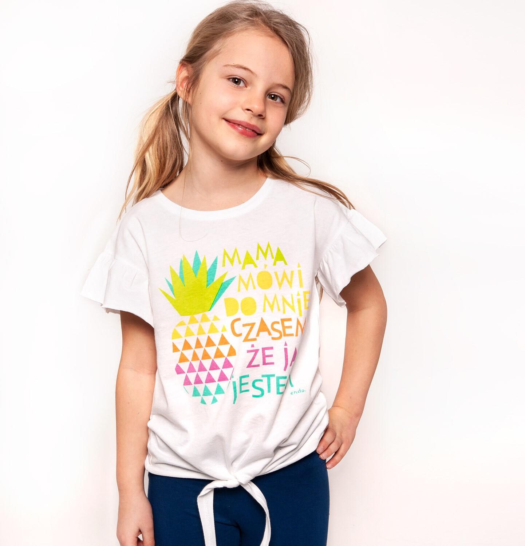 Endo - T-shirt z krótkim rękawem dla dziewczynki 3-8 lat D91G021_1