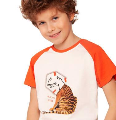 Endo - T-shirt z krótkim rękawem dla chłopca, będę kim zechcę, porcelanowy, 2-8 lat C03G050_1