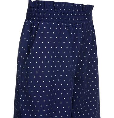 Endo - Spodnie w kropki dla dziewczynki, kuloty, z gumką w pasie, granatowe, 9-13 lat D03K550_1 237