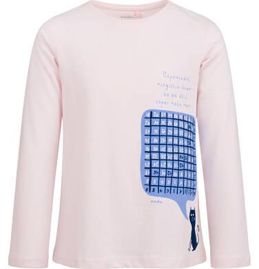 Endo - Bluzka z długim rękawem dla dziewczynki, z tabliczką mnożenia, różowa, 9-13 lat D03G695_1 5
