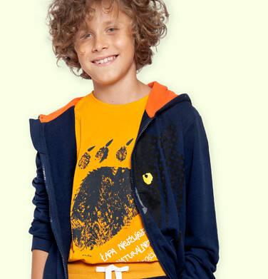 Endo - T-shirt z długim rękawem dla chłopca, z niedźwiedzią łapą, pomarańczowy, 9-13 lat C04G207_1 132