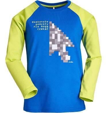 """Endo - """"Doskonałe pomysły nie mogą czekać"""" T-shirt z długim rękawem dla chłopca 9-13 lat C82G592_2"""