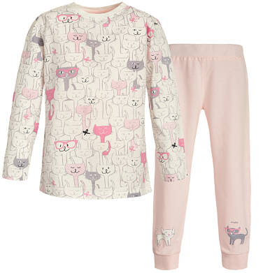 Endo - Piżama z długim rękawem dla dziewczynki 3-8 lat D82V012_1