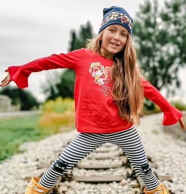 Endo - Bluzka z długim rękawem dla dziewczynki, z sercem, czerwona, 2-8 lat D04G048_1,2