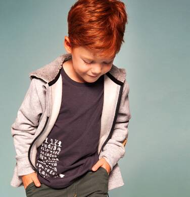 """Endo - """"Wilk Szary"""" Bluza z kapturem rozpinana dla chłopca 3-8 lat C82C006_1"""