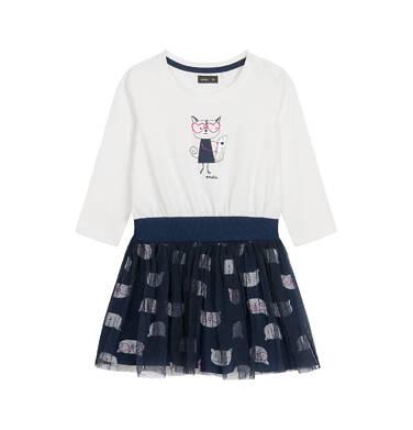 Endo - Sukienka z długim rękawem dla dziecka 0-3 lata N92H028_1