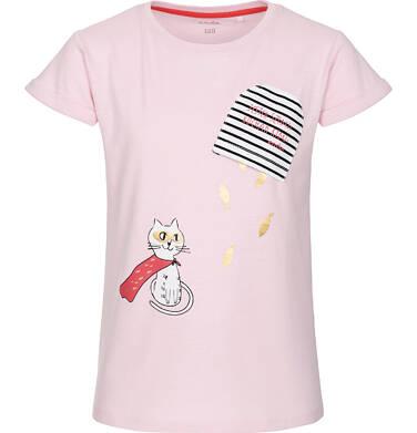 T-shirt z krótkim rękawem dla dziewczynki 3-8 lat D91G071_1
