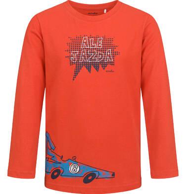 Endo - T-shirt z długim rękawem dla chłopca, z samochodem, czerwony, 2-8 lat C04G190_1 35