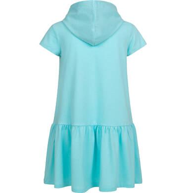 Endo - Sukienka z krótkim rekawem i kapturem, z dalmatyńczykiem, niebieska, 2-8 lat D05H050_1 26