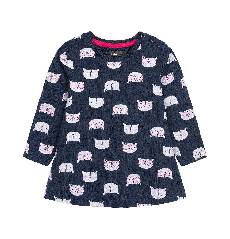 Endo - Sukienka z długim rękawem dla dziecka 0-3 lata N92H027_1