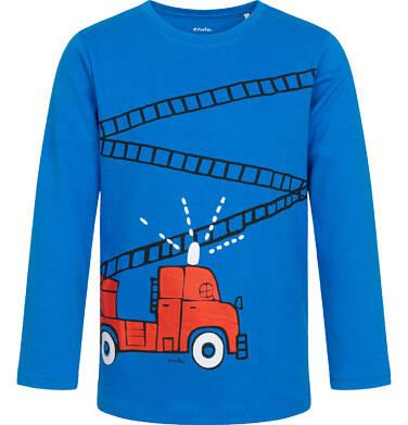 Endo - T-shirt z długim rękawem dla chłopca, ze strażą pożarną, niebieski, 2-8 lat C04G213_1 5