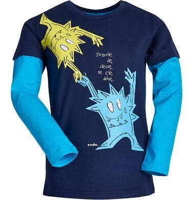 """Endo - """"Strasznie się cieszę, że cię widzę."""" T-shirt z długim rękawem dla chłopca 3-8 lat C82G106_1"""