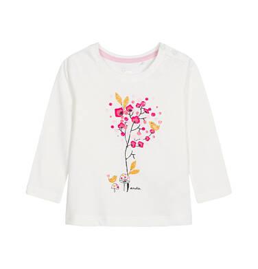 Bluzka z długim rękawem dla dziecka 0-3 lata N92G110_1
