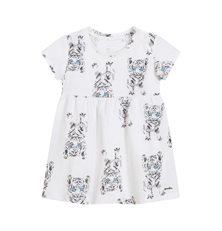 Endo - Sukienka dla dziewczynki do 2 lat, w tygrysy, porcelanowa N03H020_1