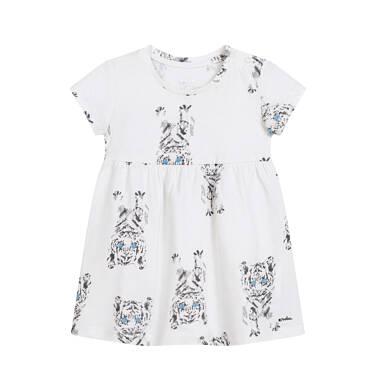 Endo - Sukienka dla dziewczynki do 2 lat, w tygrysy, porcelanowa N03H020_1,2