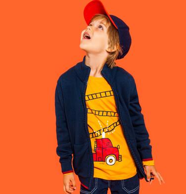 Endo - T-shirt z długim rękawem dla chłopca, ze strażą pożarną, pomarańczowy, 2-8 lat C04G213_2 3