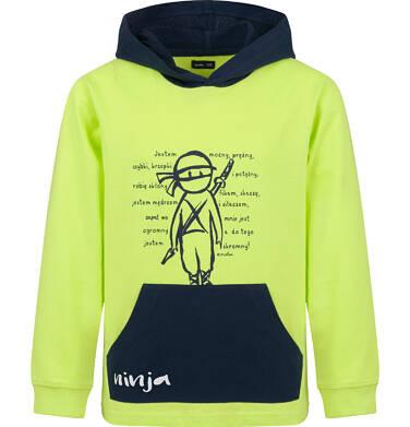 Endo - Bluza z kapturem dla chłopca, z ninja, limonkowa, 2-8 lat C03C007_1
