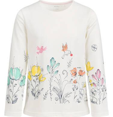 Endo - Bluzka z długim rękawem dla dziewczynki, kwiatowy nadruk, porcelanowa, 9-13 lat D04G060_1 76