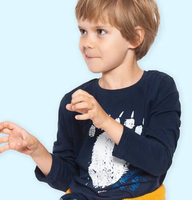 Endo - T-shirt z długim rękawem dla chłopca, z niedźwiedzią łapą, granatowy, 2-8 lat C04G214_1 29