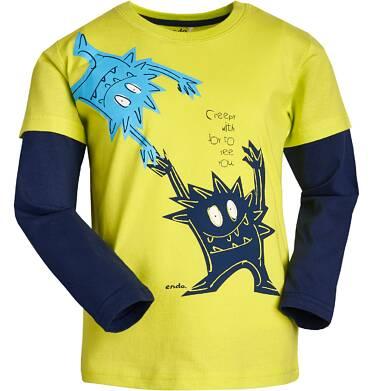 """Endo - """"Strasznie się cieszę, że cię widzę."""" T-shirt z długim rękawem dla chłopca 3-8 lat C82G106_2"""